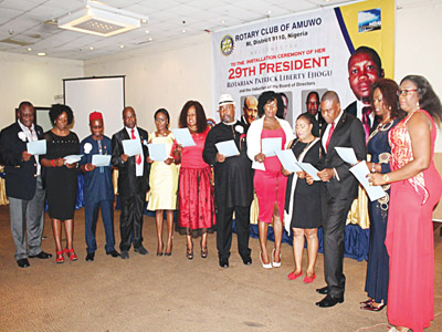 Members of the newly inducted Board of Directors during the installation ceremony
