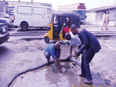 Tricyclists  at work at Iyana Itire Bus Stop on Oshodi Apapa Expressway, Lagos PHOTO: Godfrey Okpugie
