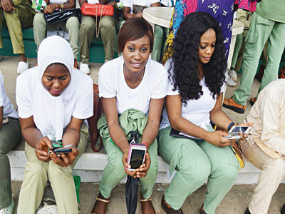 U-Reporters who just signed up to the platform at a National Youth Service Corps camp in Abuja
