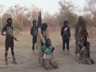 Three villagers were beheaded during a weekend raid in Cameroon by Boko Haram jihadist fighters from neighbouring Nigeria, security forces said Monday. PHOTO: nairaland