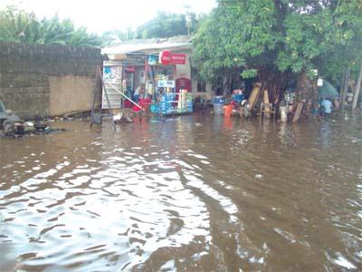 Flooding in the Apapa area                  PHOTO: PAUL ADUNWOKE
