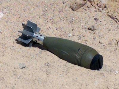 Un-Detonated Mortar Shell. Photo:samaa