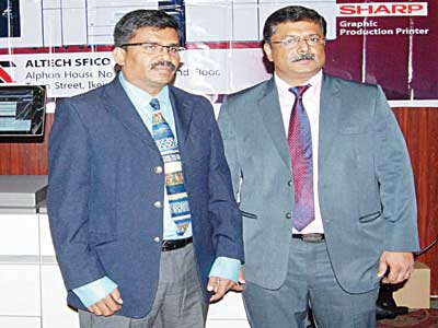 Mr. G. Balraj, ALTECH SFIaCO Country Head (left) and Mr.  V.George, GM, ALTECH, Dubai.