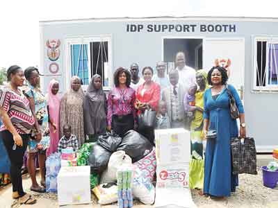 During the donation of items to the IDPs at the camp in Durumi in the Federal Capital Territory (FCT)