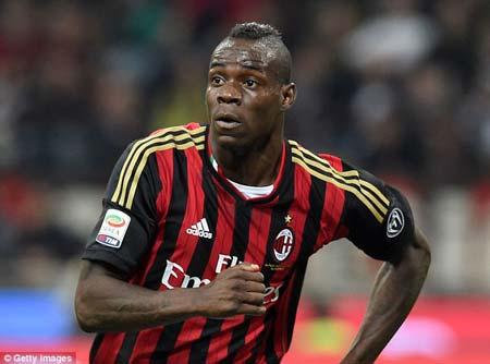 Balotelli during his first stint at Milan....