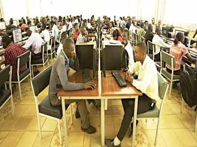 A virtual university classroom at Kenyatta University, Nairobi, Kenya