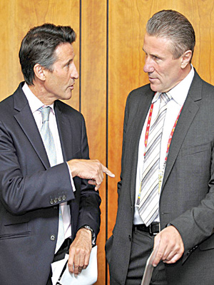 Sebastian Coe (left) and Sergey Bubka are the two candidates fighting to succeed Diack.