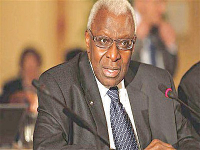 Lamine Diack is the outgoing IAAF president.