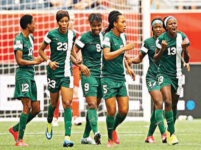 The Super Falcons are in Equatorial Guinea for tomorrow's battle of Bata without some of their key players, including Onome Ebi (Jersey No 5).