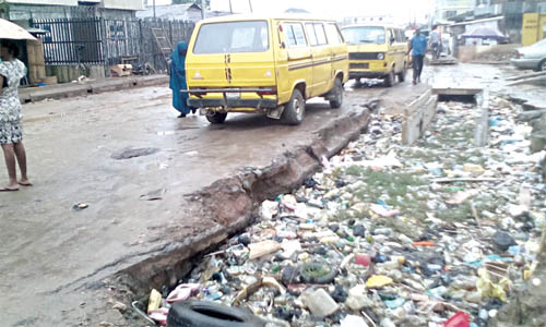 A section of the Igi-Olugbin road PHOTO: IKECHUKWU ONYEWUCHI