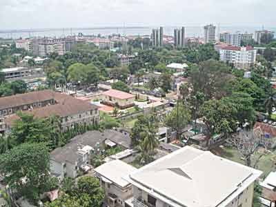 Aerial view of Ikoyi, recently