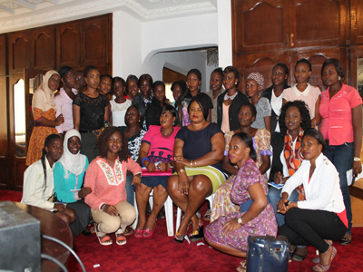 Students and their mentors at the launch of Young Women Political Mentorship Project in Lagos