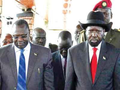 Kiir (left) and Machar