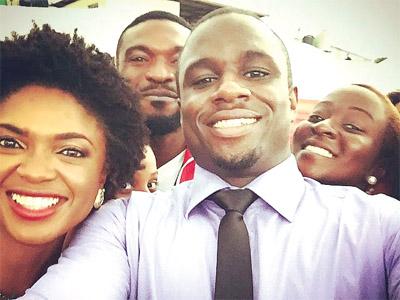 Omoni Oboli; Kenneth Okolie; Udoka Oyeka, and Diana Yekinni in Lunch Time Heroes