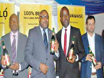 Brewery Manager, Makurdi, Tayo Ogundana (left); Corporate Affairs Adviser, Kufre Ekanem; Marketing Manager, Gulder, 33, Life, More and Stout, Emmanuel Agu; and the Innovation Manager, Yiannis Evdokiadis at the press during the re-lunch of More Lager beer in Makurdi, Benue State…recently.