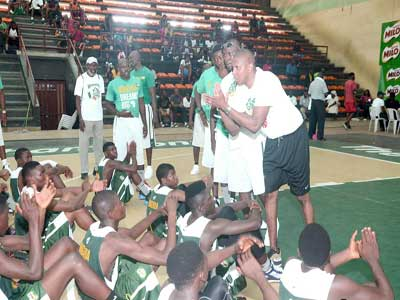 General Manager, Toronto Raptors, Masai Ujiri, giving out instructions to the Nestle Milo/Giant of Africa Top 50 camp participants at the NIS Gym, National Stadium, Surulere, Lagos… yesterday.