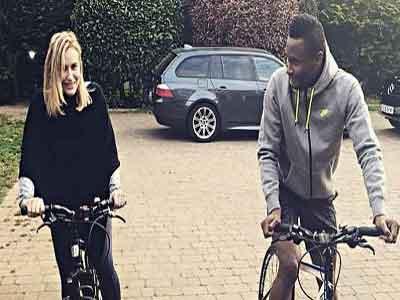 John Obi Mikel (left) and his current girlfriend, Olga Diyachenko