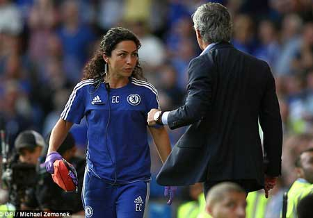 Eva Carneiro received the brunt of Jose Mourinho's criticism after rushing on to treat Eden Hazard