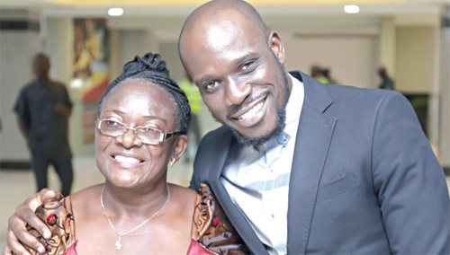 Willis Ikedum, Director, with his mother-in-law