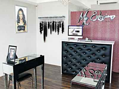 My Extensionz Hair studio in Lagos.