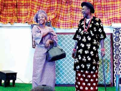 A scene from Quarter Eight, Joshua Alabi's Kininso Koncept and Theatre production staged last Sunday at Ethnic Heritage Centre, Raymond Njoku Street, Off Awolowo Road, Ikoyi, Lagos. The show continues at the same venue today, Sunday, August 23, and next Sunday, August 30