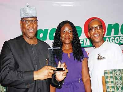 The Chairman of Channels, Mr. John Momoh, The GM of Radio One Funke Treasure-Durodola and the Director, Lagos Operation of FRCN, Mr. Ike Okeke