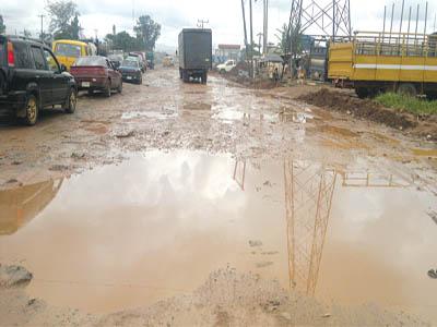 Conoil junction, Sango, Ogun State
