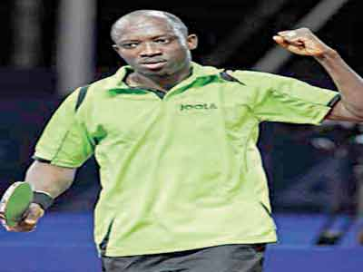 Veteran star, Segun Toriola, will lead Nigeria's table tennis players to the 2015 All Africa Games.