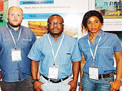 Contract Support Engineer on Cranes and Lifting Engineering Solutions, Iain Livingstone;  Projects and Technical Services Director, Ekemini Amos and  Sales manager, Oil Country Tubular Goods (OCTG) of Thompson & Grace Investments Limited, Port Harcourt, Linda Brai at the  Society of Petroleum Engineers' Conference and Exhibition (SPE NAICE 2015) recently.