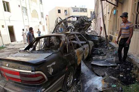 A suicide bomber in an explosives-rigged vehicle killed two Iraqi army generals north of the Anbar provincial capital of Ramadi on Thursday. PHOTO: almanar.com.lb