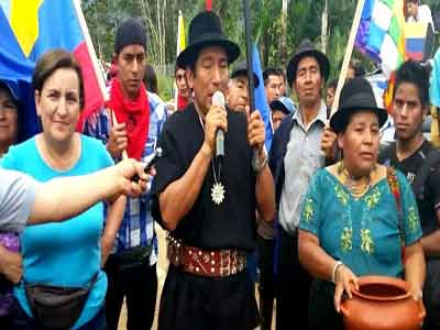 The indigenous peoples in Ecuador demand the government of President Rafael Correa to archive the constitutional. Photo; Panampost.