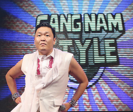 """The song """"Gangnam style"""" by Korean pop (K-Pop) star Psy. Photo credit globalization"""