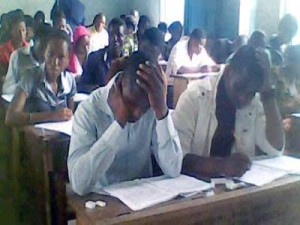 Students writing Jamb