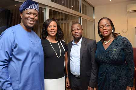 Demola Aladekomo, chief host and founding managing director, Chams Plc, Mrs. Juliet Ehimuan-Chiazor, country manager, Google Nigeria, Professor Sola Aderounmu, president, Nigeria Computer Society (NCS) and Funke Alomo-Oluwa, managing director, Chams Access Limited, at the reception by Chams Group for new NCS president in Lagos recently.