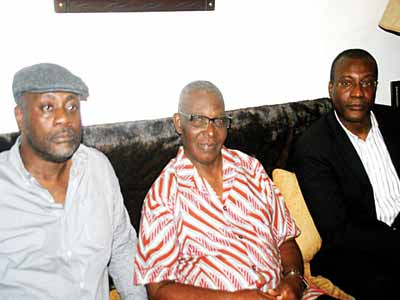 Eldest son, Gamaliel Ese Onosode (left); younger brother, Dr. Andrew Onosode and Spencer Onosode.        PHOTOS: OSENI YUSUF