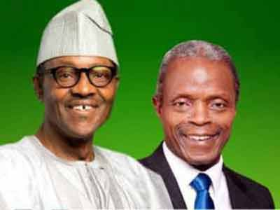 President Buhari and his vice, Osibanjo.