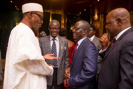 Buhari with the Permanent Secretary, Ministry of Foreign Affairs, Ambassador Bulus Lolo.