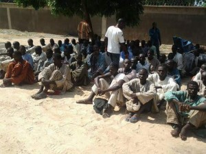 The arrested members of the s urgent group, Boko Haram PHOTO: DHQ