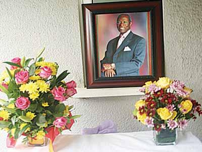 Inside the late Gamaliel Onosode's residence in Lagos... yesterday PHOTO: OSENI YUSUF