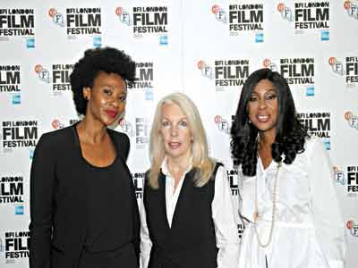 Nse Ikpe-Etim; Amanda Nevill, Chief Executive Officer, BFI; Mo Abudu, Executive Producer