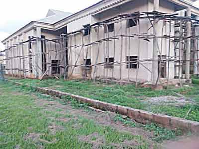 Another uncompleted structure at the medical centre