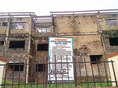 Uncompleted building at the hospital