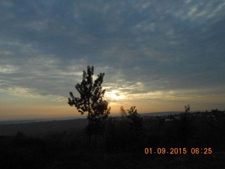 We set forth at dawn.... PHOTO: Dolapo Aina