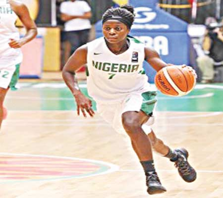 D' Tigress' Sarah Ogoke was one of the stars of the victory over Egypt… on Saturday.