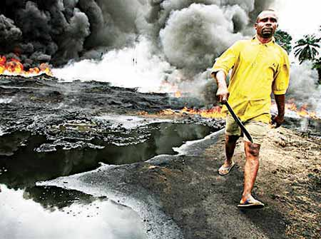 Oil spill in the Niger Delta region