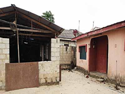 The suspect's house in Ijegun.