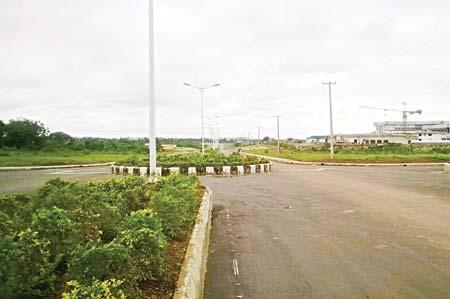 Road into OchoUdo City PHOTOS: IKENNA ONYEKWELU
