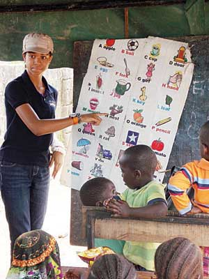 Zuriel at the IDP camp in Abuja