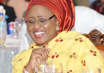 AISHA BUHARI HOST WOMEN 00; L-R; Wife of the Vice President Mrs Dolapo Osinbajo and Wife of the President Mrs. Aisha Muhammadu Buhari during a dinner hosted by the wife of the President at the presidential villa in Abuja. PHOTO; SUNDAY AGHAEZE JUNE 14 2015.