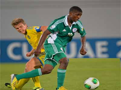Kelechi Iheanacho showing skills at UAE 2013 FIFA U-17 World Cup. He has been invited for the Senegal 2015 Youth Championship. PHOTO: GETTY IMAGE